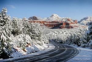 Highway Through Snowy Sedona