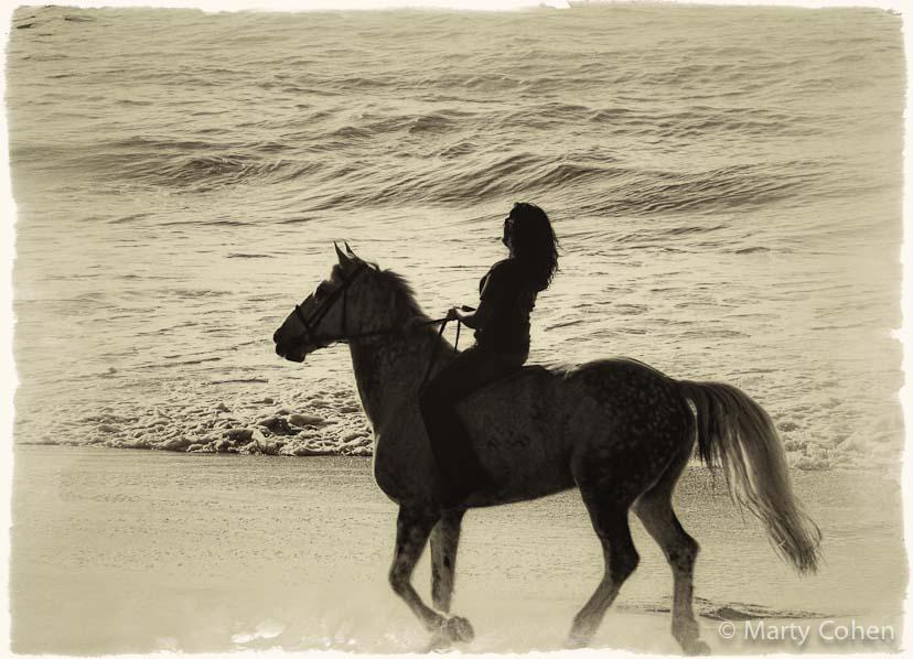 Rider on the Sand