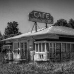 The Old Diner in B+W