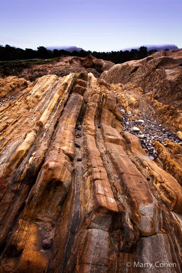 Weston Beach Rock Formations