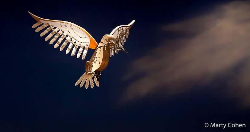 Flying Bird at the Skirball