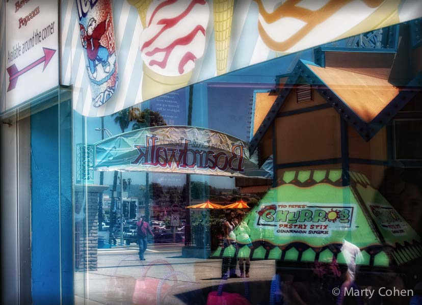 Reflections of the Santa Cruz Boardwalk