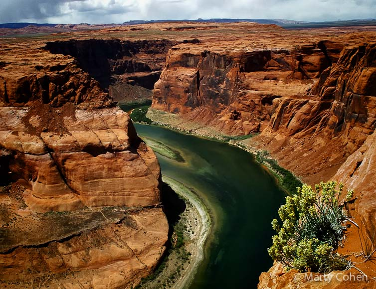 Colorado River at the Right Side of Horseshoe Bend
