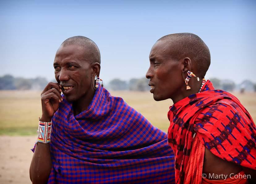 Masai Men in Amboseli, Kenya