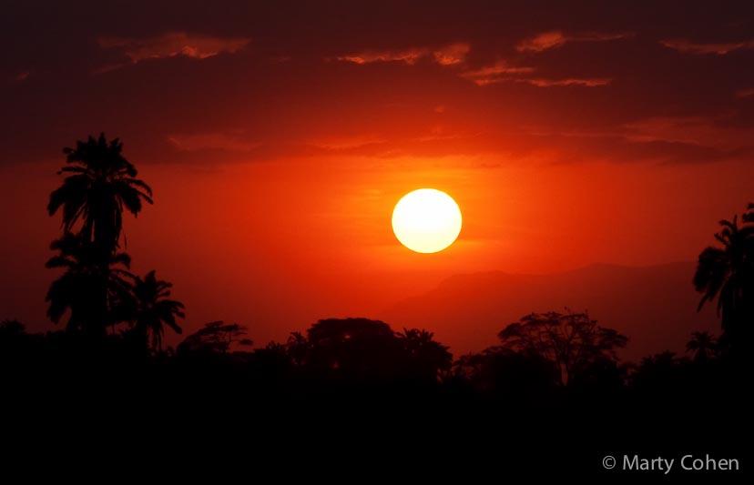Sunset Over Amboseli
