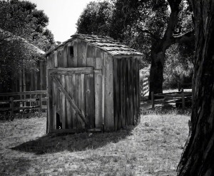 Outhouse By The Barn in Garland Park