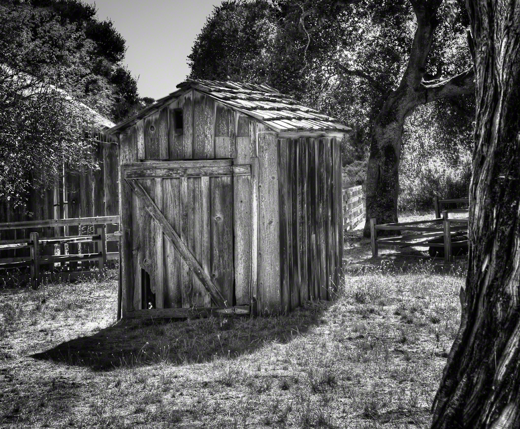 Outhouse by The Barn B+W