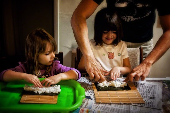 Kate and Reiko Make Sushi 2011
