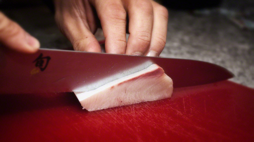 Slicing Yellowtail for New Years