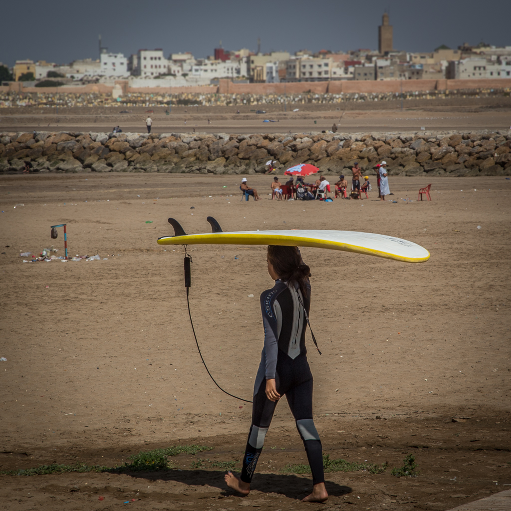 Surfer in Rabat