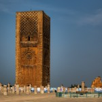 The unfinished Minaret of Hassan Tower