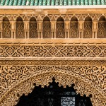 Detail of the entrance to the Mausoleum of Mohammed V in Rabat