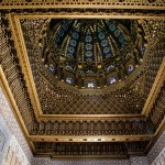The amazing ceiling inside the Mausoleum of Mohammed V in Rabat