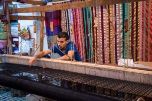 A Fabric Weaver in the Medina