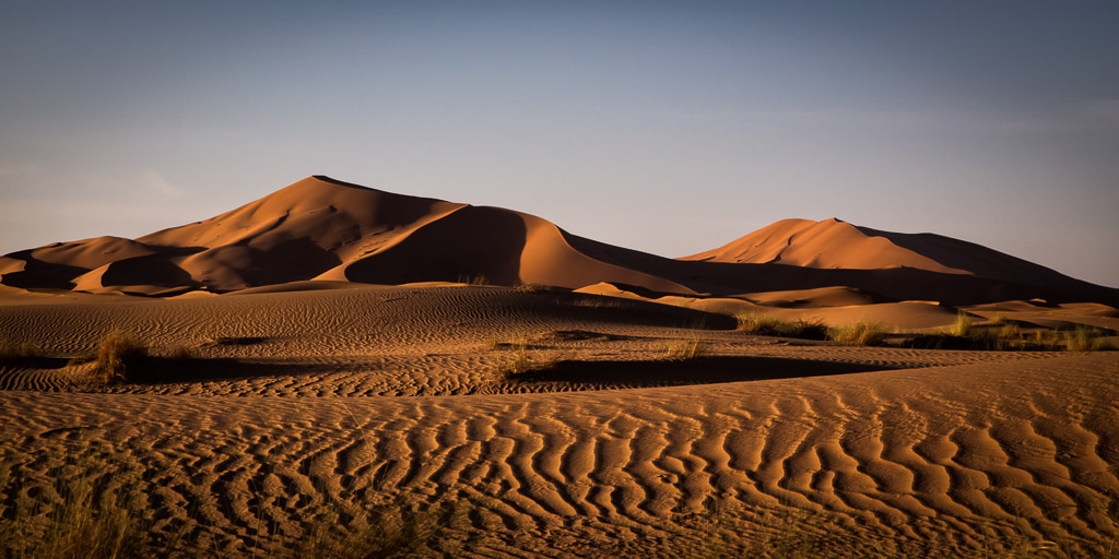 Sun Setting in the Sahara