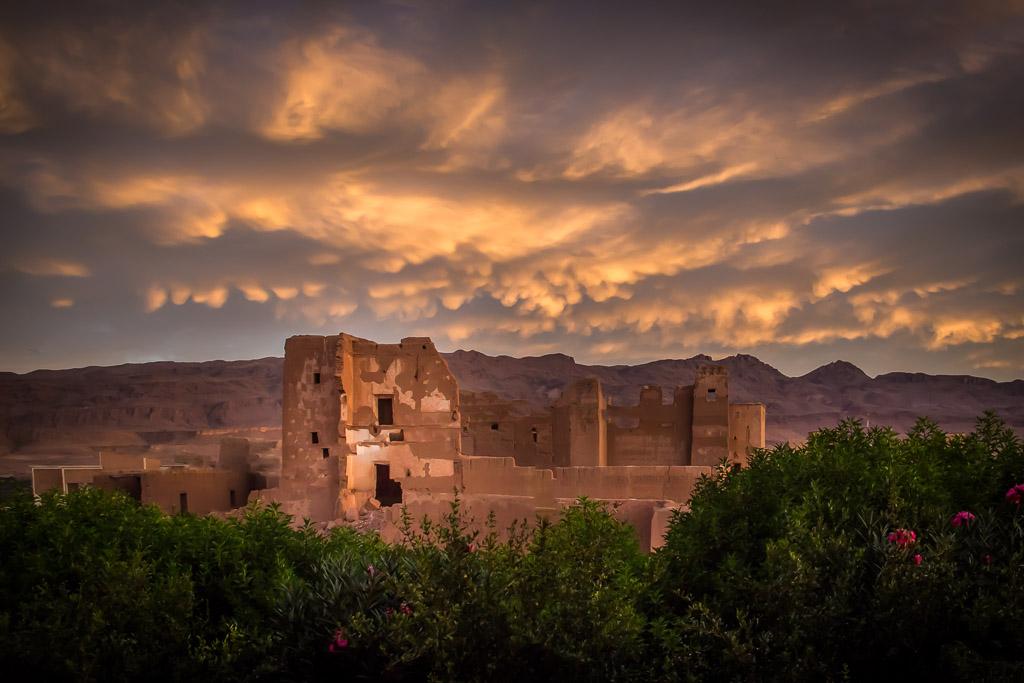 Crumbling Kasbah in Tineghir, Morocco