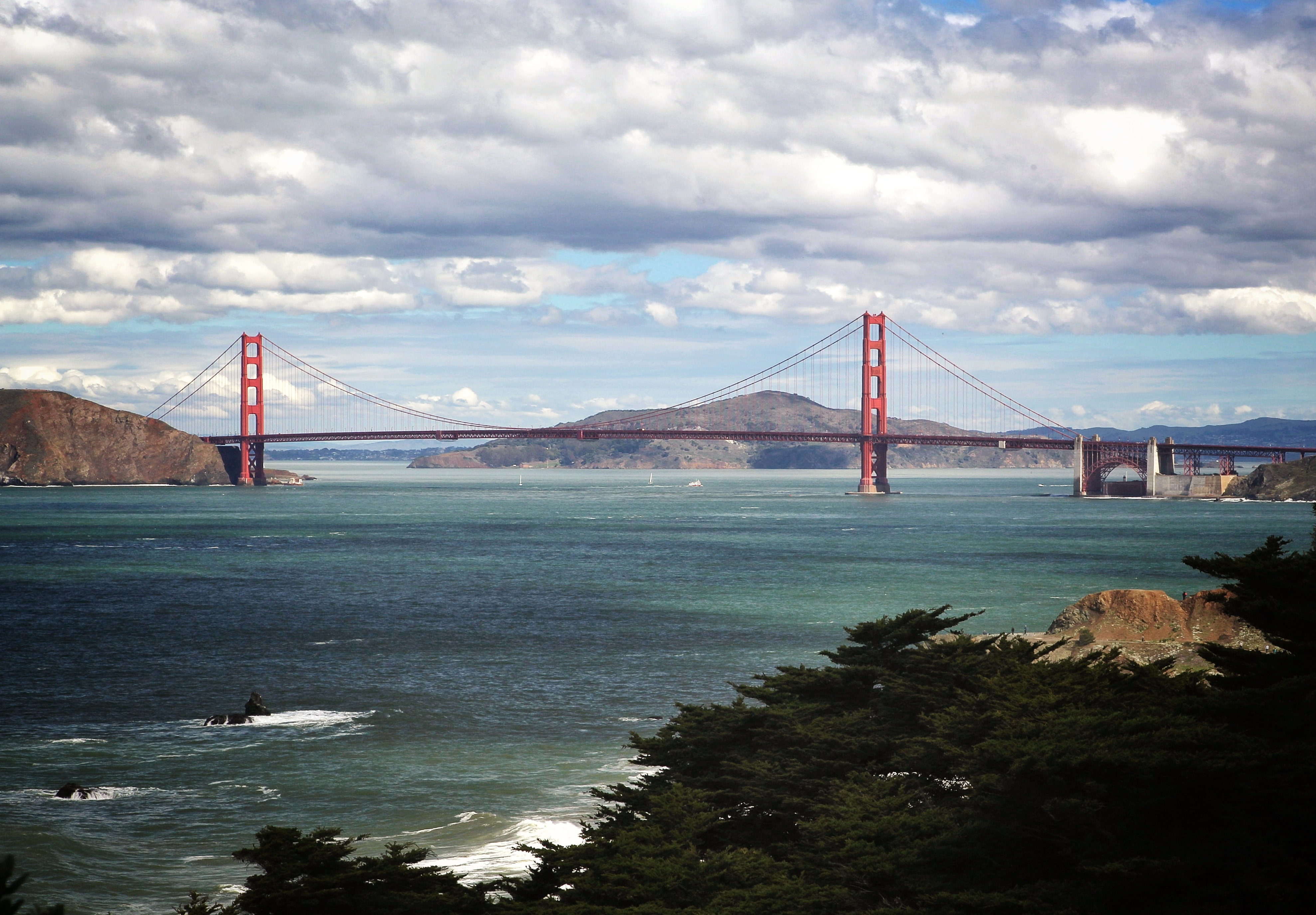The Golden Gate Bridge from Land's End in San Francisco