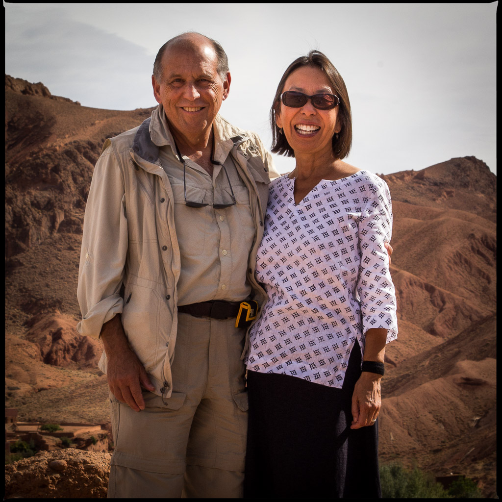 Cathleen and Marty in Morocco