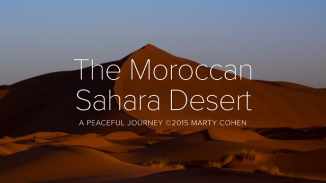 The Moroccan Sahara Desert