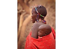 Masai Mother and Baby